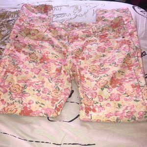 Floral Skinny Pants